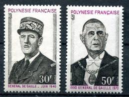 Thème Général De Gaulle - Polynésie - Yvert 89 & 90 - Neuf Xxx - Cote 55,50 - Lot 299 - De Gaulle (General)