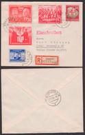 Mao Zedong Deutsch-Chinesiche-, Deutsch-Polnische-, Sowjetische-Freundschaft R-Brief 31.1.53, DDR 284, 287, 297, 302 - Cartas