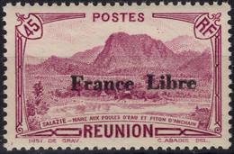 REUNION 193 ** MNH Pic D'Anchain Surcharge France Libre 1943 - Nuovi