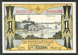 257-Hamburg Bürgermilitär 50pf, 1 Et 2 Mark 1921 - [11] Local Banknote Issues