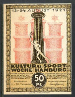 257-Hamburg Kultur Und Sport 50pf Woche 11-20 - [11] Local Banknote Issues