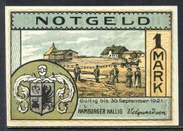 257-Hamburger Halig 50pf Et 1 Mark 1921 - [11] Local Banknote Issues