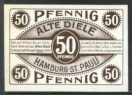 257-Hamburg Alte Diele St Pauli 5x50pf Et 75pf - [11] Local Banknote Issues