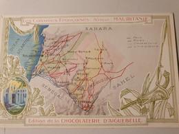 MAURITANIE COLONIES FRANCAISES CARTE PUBLICITE CHOCOLATERIE D'AIGUEBELLE - Landkaarten