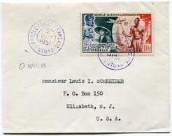 WALLIS ET FUTUNA LETTRE AFFRANCHIE AVEC UN TIMBRE DE NOUVELLE-CALEDONIE DEPART PROTECTORAT FRANCAIS 2 OCT 1951 FUTUNA... - Covers & Documents