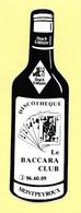 AUTOCOLLANT STICKER ADHÉSIF - DISCOTHÈQUE LE BACCARA CLUB MONTPEYROUX - BLACK & WHITE - DANCING - Stickers