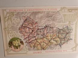ORNE  CARTE PUBLICITE CHOCOLATERIE D'AIGUEBELLE ALENCON ARGENTAN - Maps
