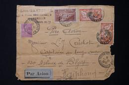 FRANCE - Enveloppe De Marseille Pour Haiphong En 1931 Par Avion, Affranchissement Avec Pont Du Gard  - L 85670 - 1921-1960: Période Moderne