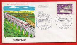 FDC AEROTRAIN ORLEANS 7 3 1970 - 1970-1979