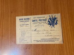 Carte Postale 1916 - Franchise Postale - Lettere In Franchigia Militare