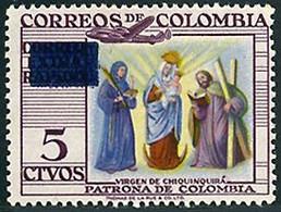 Colombie Colombia 1954  Lockheed Constallation Vierge De Chiquinquira - Aerei