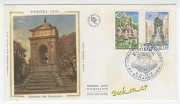 {68254} FDC Enveloppe 1er Jour , Soie , Europa 1978 Fontaine Des Innocents , Strasbourg 06 Mai 1978 , 1,00 Fr Et 1,40 Fr - 1970-1979