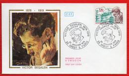 FDC VICTOR SEGALEN 20 1 1979 BREST ET PARIS - 1970-1979