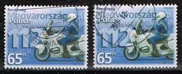 Ungarn 2003,Michel# 4787 O Policeman On Motorbike And Emergency Phone Number - Gebruikt