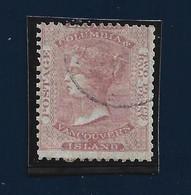 95023) COLUMBIA BRITANNICA- 2.5 P. EFFIGE REGINA VITTORIA ROSA PALLIDO N.1-USATO - Sonstige