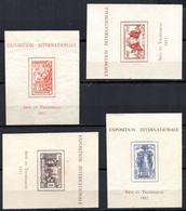 Col19  AEF Dahomey Cote D'Ivoire Madagascar Bloc BF1 Neuf Sans Gomme Recoupé  Cote >>>>€ - 1937 Exposition Internationale De Paris