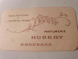 ANCIENNE CARTE PARFUMEE IMPERIAL RUSSE PARFUMERIE HUBERT BORDEAUX - Zonder Classificatie