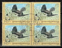 Ungarn 2012,Michel# 5561 O Saker Falcon (Falco Cherrug) Im Viererblock - Gebruikt