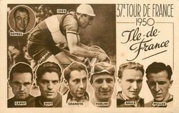 37ème Tour De France Cycliste 1950 * CPA * Coureurs Cycliste DEPREZ CAPUT CHAPATTE DIOT FORLINI BRULE MULLER - Ciclismo