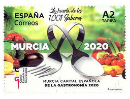 España. 2020. Murcia Capital Española De La Gastronomía - 2011-... Ungebraucht