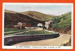 66 Port-Vendres RARE L'avenue De La Gare Et Gare éditeur Narbo N°24 Dos Scanné - Port Vendres