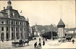CPA Luzern Stadt Schweiz, Hauptpost Und Theaterquai - LU Lucerne
