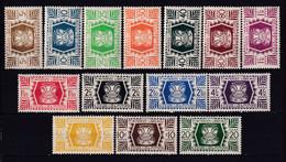 WALLIS ET FUTUNA - 1944 - SERIE DE LONDRES - YVERT N° 133/146 * MLH - COTE = 10.5 EUR. - - Unused Stamps