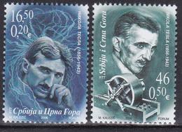 Serbia Montenegro 2006 150 Anniversary Birth Nikola Tesla Energies Electricity Physics Sciences Famous People MNH - Serbia