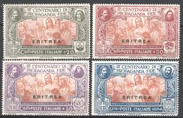 Eritrea 1923 Sass.61/64 **/MNH VF/F - Eritrea