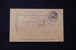 MADAGASCAR - Carte Lettre Du Corps Expéditionnaire De Madagascar En 1895 Pour Lyon, Voir Cachets Militaire - L 85686 - Storia Postale