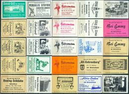 25 Alte Gasthausetiketten Aus Deutschland Sortiert Nach Alter Postleitzahl: 4800 - Bielefeld #212 - Matchbox Labels