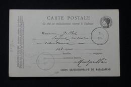 MADAGASCAR - Carte Du Corps Expéditionnaire En 1896 - L 85687 - Storia Postale