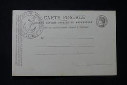 MADAGASCAR - Carte Du Corps Expéditionnaire Avec Cachet Ancre De Marine - L 85688 - Storia Postale