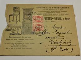Belgique, Peeters-Weber Arlon Oblitéré 1908 - 1905 Thick Beard