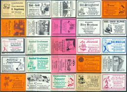 25 Alte Gasthausetiketten Aus Deutschland Sortiert Nach Alter Postleitzahl: 4800-4801 Bielefeld #216 - Matchbox Labels