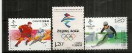 Beijing 2022 Olympics & Paralympics.  3 Timbres Neufs ** Chine - Winter 2022: Peking