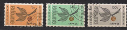 Cept 1965 Chypre Cyprus Zypern Yvertn° 250-252 (o) Oblitéré Cote 11 € - 1965