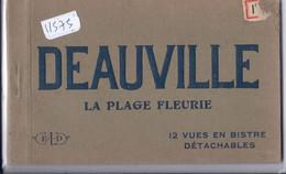 DEAUVILLE- CARNET COMPLET DE 12 CARTES- ELD- LA PLAGE FLEURIE - Deauville