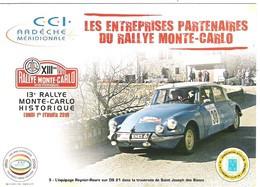 Rallye Monte-Carlo Historique 2010 équipage Reynier Roure Sur Citroën DS 21 - Rally