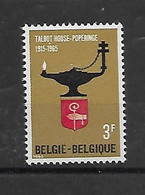 België  N° 1336V  Xx Postfris  Witte Stip Boven 1965 - Errors (Catalogue COB)