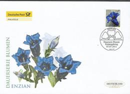 2011Germay. Deutschland  Mi. 2877 FDC   Blumen :Stengelloser Enzian (Gentiana Acaulis) - FDC: Enveloppes