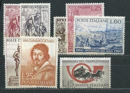 I114 ITALIA  VARI 1960  8 V.    MNH ** - 1946-60: Nieuw/plakker