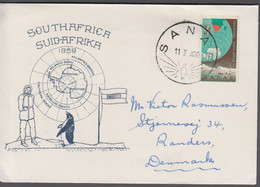 1959. SOUTH AFRICA. SANAE 11 1 60  To Denmark. Antarctic Expedition.   (MICHEL 267) - JF413453 - Cartas
