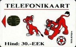 ESTONIA : ESTS08 Hind:30.-EEK Lions+ball Short USED - Estonia