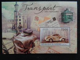 2012 BLOC BURUNDI 1 TIMBRE DENTELE : TRANSPORT DU COURRIER - Post