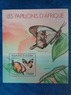 2012 BLOC BURUNDI  1 TIMBRE DENTELE : LES PAPILLONS D'AFRIQUE - Schmetterlinge