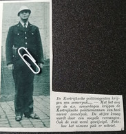KORTRIJK..1939.. DE KORTRIJKSE AGENTEN KRIJGEN EEN ZOMERPAK - Zonder Classificatie