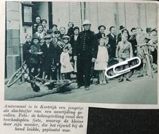 KORTRIJK..1939.. JONGETJE SLACHTOFFER VAN AANRIJDING - Zonder Classificatie