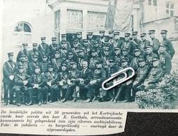 KORTRIJK..1935.. DE LANDELIJKE POLITIE / HEER E. GOETHALS ARRONDISSEMENTSKOMMISSARIS ZILVEREN JUBILEUM - Zonder Classificatie