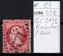 France YT 24 GC 3171 Rochefort Sur Mer - 1862 Napoleon III
